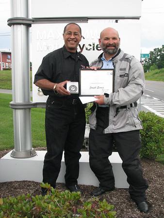 Joe Scorca 100K Mile Award