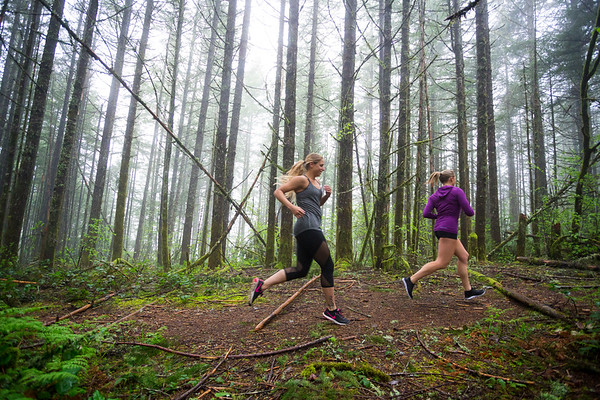 Ashley & Monica Trail Running