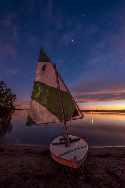 Sunset and Stars on Sebago Lake.jpg