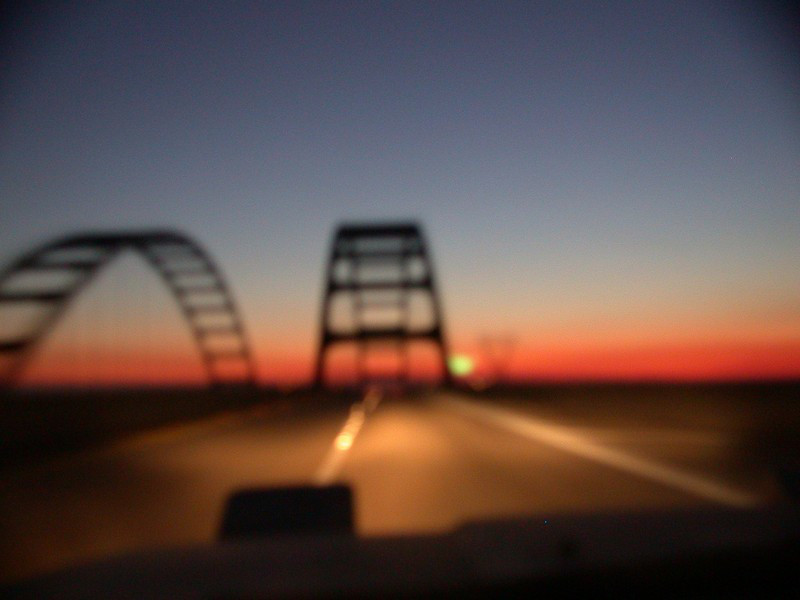 awesome bridge at sunset, grr at lack of focus