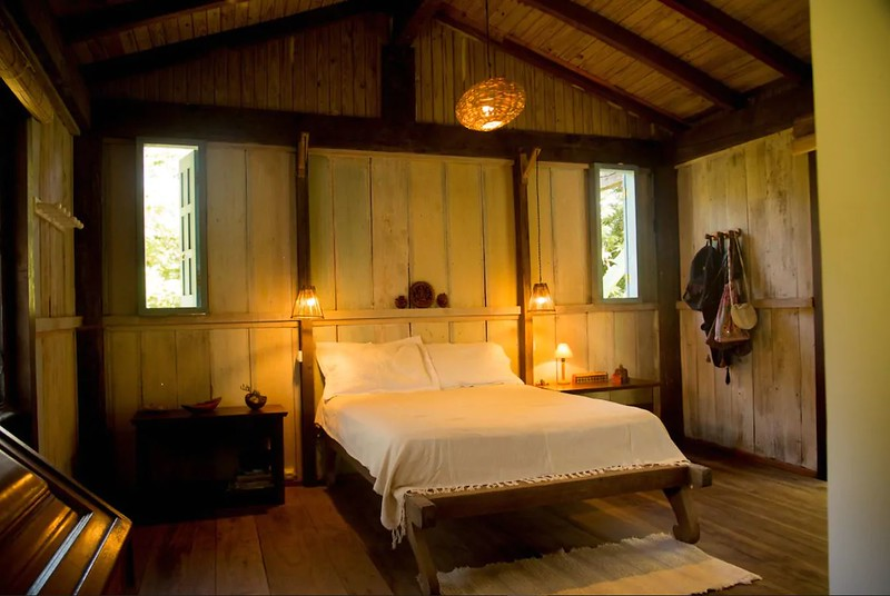 reclaimed wood guest house