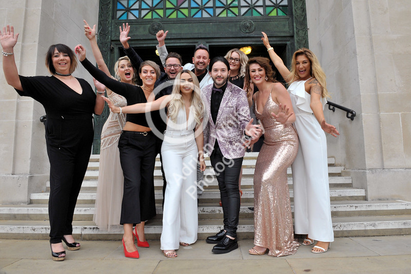 Swansea Life Awards 2017 Contenders The Hair Lounge arirveing at the Brangwyn Hall for this years Swansea Life Awards.
