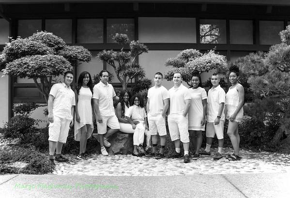 07.09.15 Bill, Chrishelle & Family in B&W