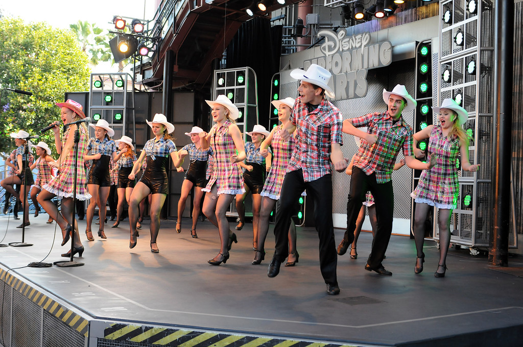 ". The Young Canadians of the Calgary Stampede performed at Disney\'s California Adventure and Disneyland on February 16 and 17, 2013.  They participated with the professionals at Disney Performing Arts in a number of workshops.  The half hour program,  ""Maple Leaf Forever\"" was presented  by the 45 students on the Hollywood Backlot stage on Saturday and on the Big Thunder Ranch Jamboree stage on Sunday.  (Dean Musgrove/Staff Photographer)"
