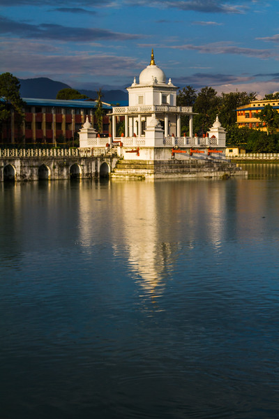 Rani Pokhari, or the Queen's Lake, is a calm center to the heart of Kathmandu, Nepal