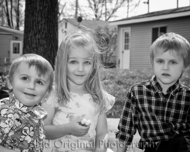 40 Easter April 2010 At DnD - Declan, Brielle, & Ian (b&w).jpg