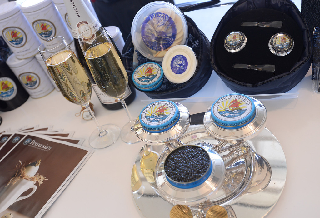 . Petrossian Caviar. Media preview of the new Tom Bradley International Terminal at LAX.  Photo by Brad Graverson 6-20-13
