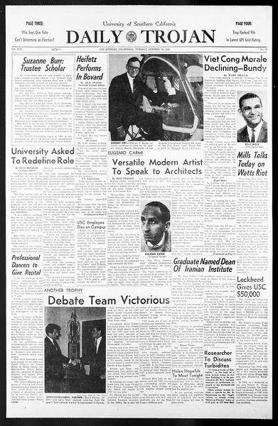 Daily Trojan, Vol. 57, No. 27, October 26, 1965