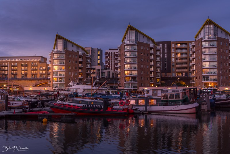 Evening light on Limehouse
