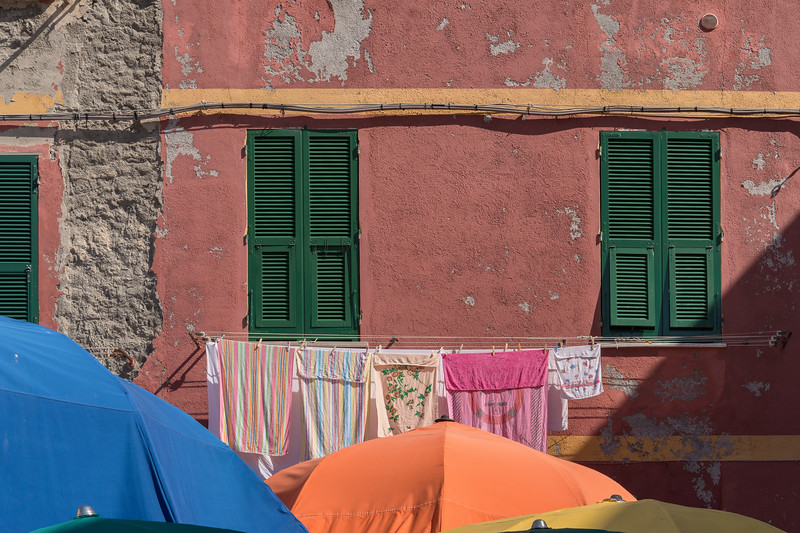 Detail - Vernazza, La Spezia, Italy - August 29, 2015