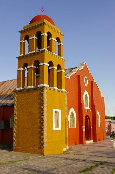 The church where my parents were married: Iglesia del Sagrado Corazón, en Nueva Rosita, Coahuila, Mexico.