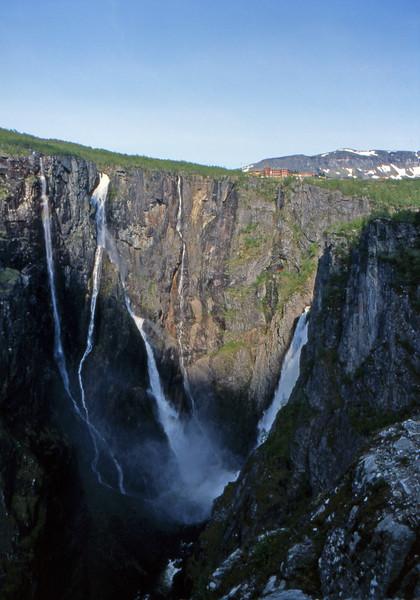 Voringfossen Waterfall - Between Haugastol and Eidfjord, Norway - June 14, 1989