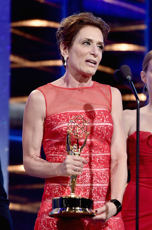 . Writer Shelly Altman accepts Outstanding Drama Series Writing Team for \'The Young and the Restless\' onstage during The 41st Annual Daytime Emmy Awards at The Beverly Hilton Hotel on June 22, 2014 in Beverly Hills, California.  (Photo by Alberto E. Rodriguez/Getty Images for NATAS)