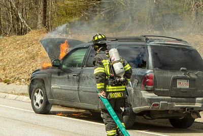 Car Fire - Westminster Ma - Village Inn Rd - April 8 2018
