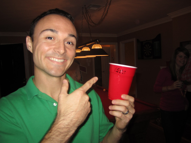 Chris with his name nicely written on his cup.