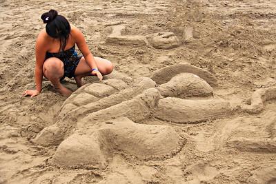 Sand Sculptures at Capitola Beach