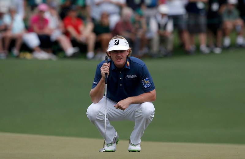. Brandt Snedeker of the U.S. lines up a putt on the second hole during first round play in the 2013 Masters golf tournament at the Augusta National Golf Club in Augusta, Georgia, April 11, 2013.  REUTERS/Phil Noble