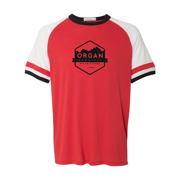 Organ Mountain Outfitters - Outdoor Apparel - Mens T-Shirt - Organ Mountain Vintage Jersey Tee - Red White Black.jpg