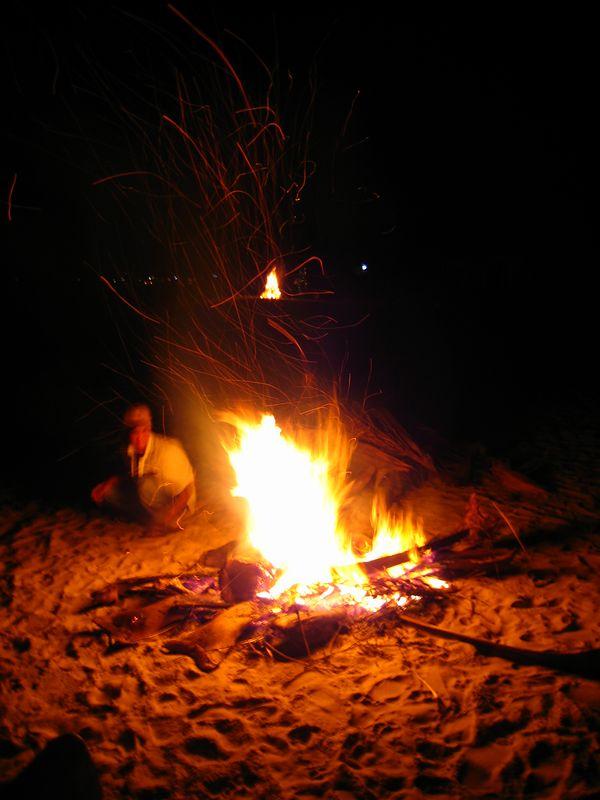 christmas eve bonfire