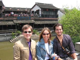 Scott, Randa and Kyle in Suzhou, outside Shanghai last April.