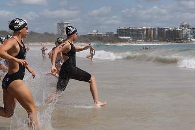 Mooloolaba Ocean Swim - Mooloolaba Multi Sport Festival Super Saturday, 15 March 2014. Camera 2 - Mooloolaba, Sunshine Coast, Queensland, Australia. Photos by Des Thureson - http://disci.smugmug.com