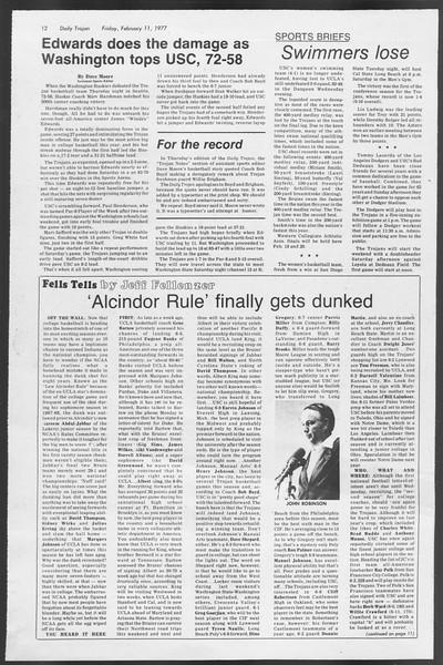 Daily Trojan, Vol. 71, No. 4, February 11, 1977