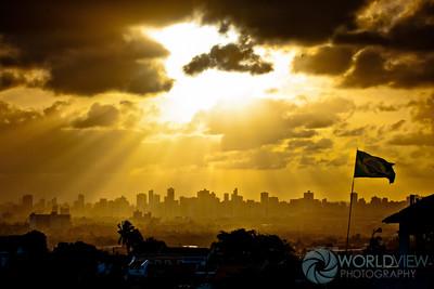 Recife skyline sunset (Olinda, Brazil)