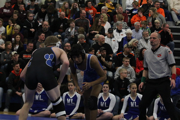 Class 1A District 7 wrestling tournament 2-10-18