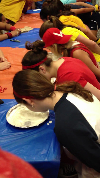 Amy wins the Pie Eating contest!