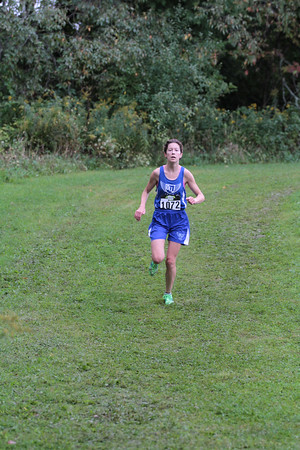 Girls D5 at 2.1 mile mark - 2014 Nike Holly Duane Raffin Cross Country Invite