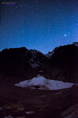 Big Four Ice Caves Stars & Aurora April 2015