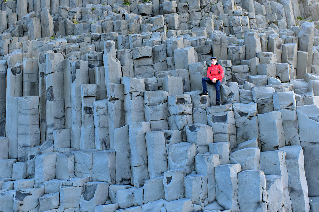 Basalt columns at the base of Reynisfjall South Coast Iceland