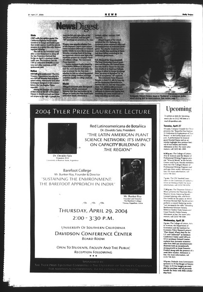 Daily Trojan, Vol. 151, No. 65, April 27, 2004