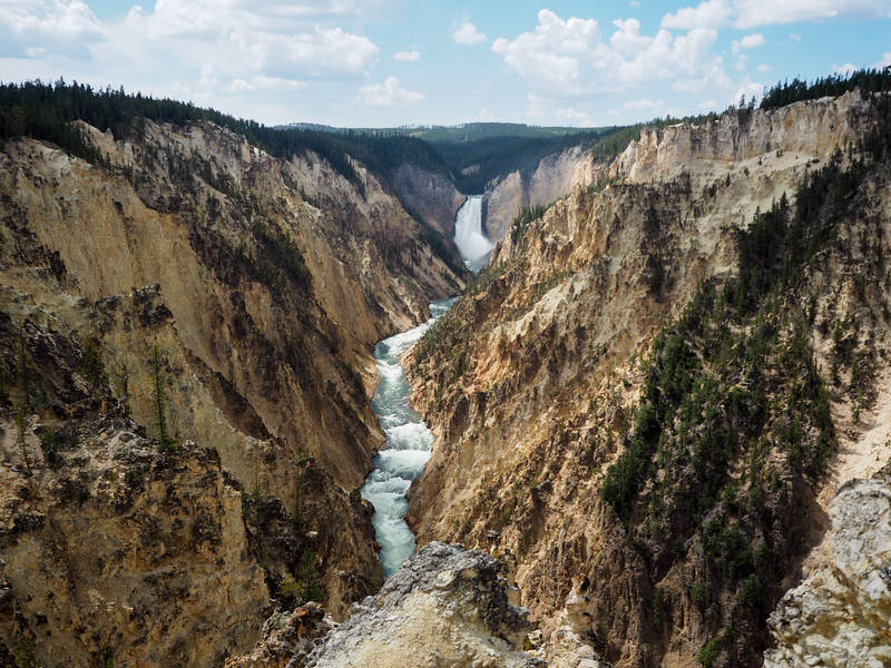 Lower Falls in the Grand Canyon of Yellowstone