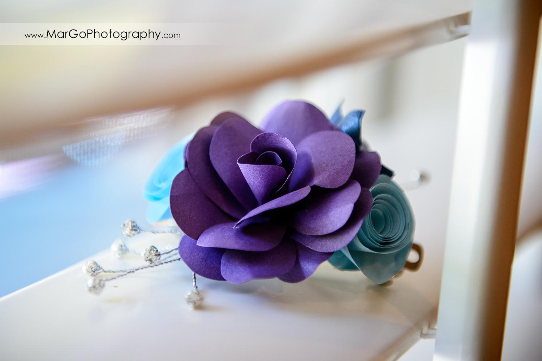 handmade violet flower hairpin