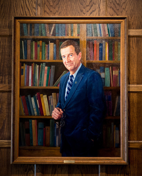 Richard Landini president portrait in Heritage Lounge