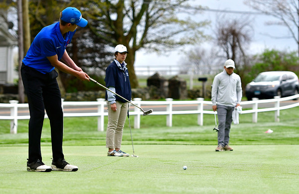 4/30/2019 Mike Orazzi   Staff Bristol Eastern's Drew Fries during Tuesday's match with Bristol Central at Chippanee Golf Club.