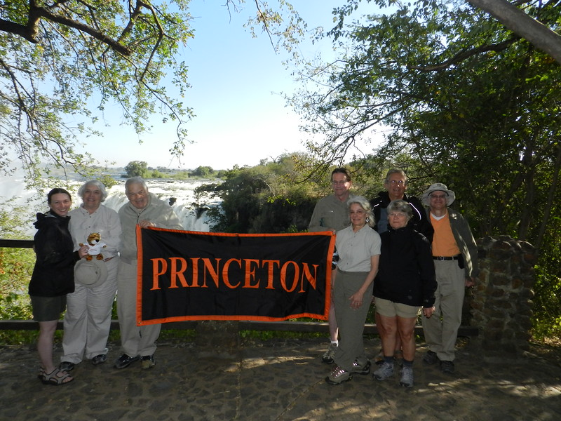 119 - The group plus tiger at Vic Falls - Anne Davis