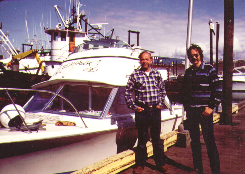 Wayne & Dave, Homer Boat Dock, July 1980 - Copy.jpg