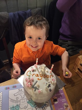 Grayson's 4th Birthday Celebrations