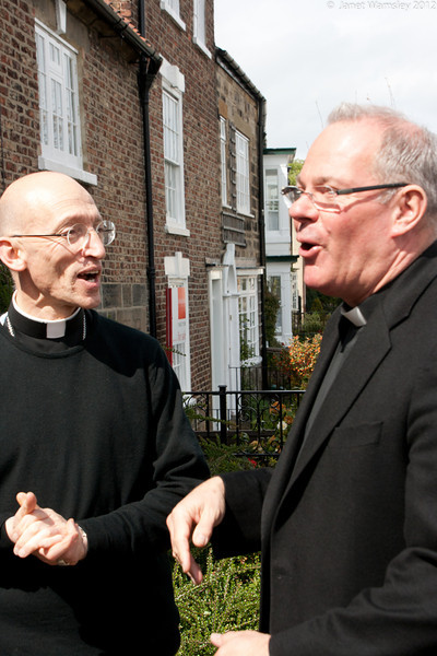 Bp. Martin and Fr. Andrew share a laugh