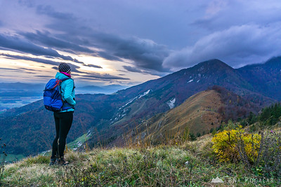 Climbing Kamniški vrh - Oct 18, 2015