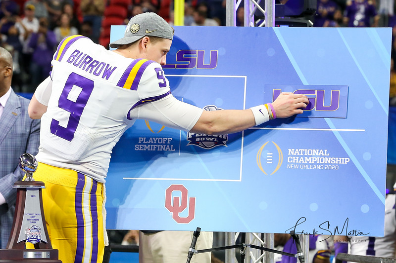 NCAA FOOTBALL: DEC 28  Chick-fil-A Peach Bowl CFP Semifinal - Oklahoma v LSU