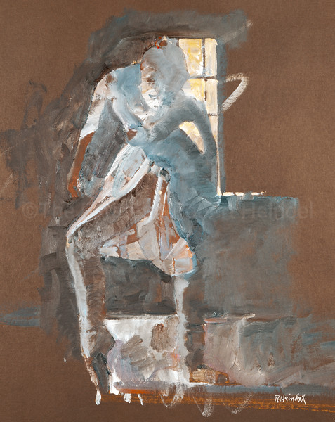 Study for 'Blue Curtains' (c1980s)