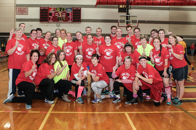 The One Shot Wonders,  Kingston Schools teachers  and staff, are ready to take on the Harlem Wizards. Wicked Local Photo/Denise Maccaferri