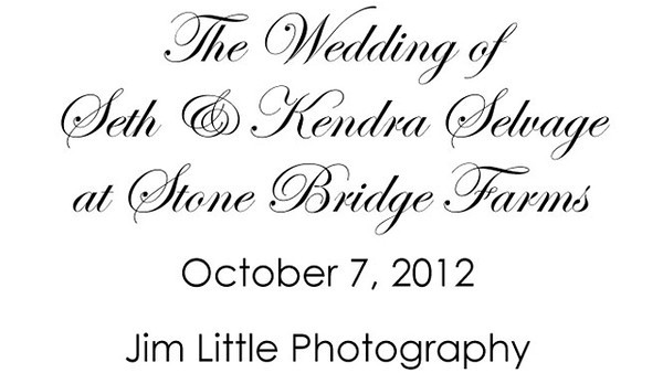 Seth & Kendra Wedding