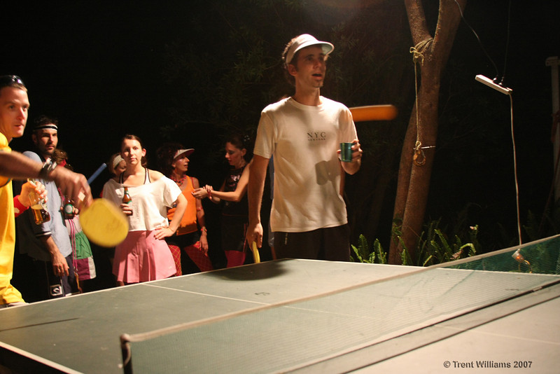 Table tennis action. Photo by Trent Williams