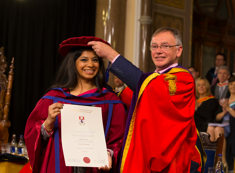 03/11/2017. Waterford Institute of Technology Conferring. Pictured is Radhika Loomba  who was conferred a PhD, also pictured is Prof. Willie Donnelly, President of WIT.  Picture: Patrick Browne.
