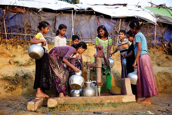 014- WAS at Rohingya Makeshift Camp,  Ukhia, Cox's Bazar, Bangladesh.