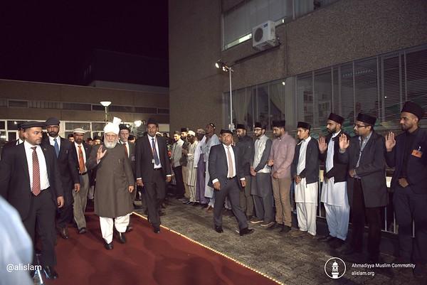 Khalifa of Islam arrives in Frankfurt - August 19, 2017